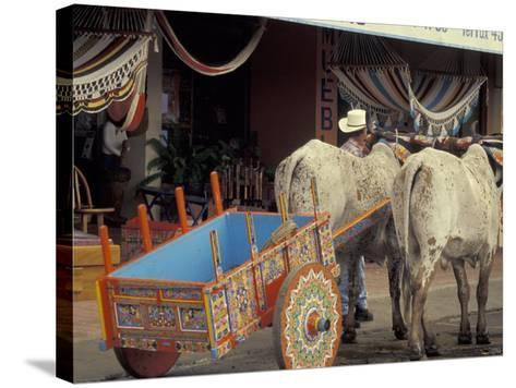 Ox Cart in Artesan Town of Sarchi, Costa Rica-Stuart Westmoreland-Stretched Canvas Print