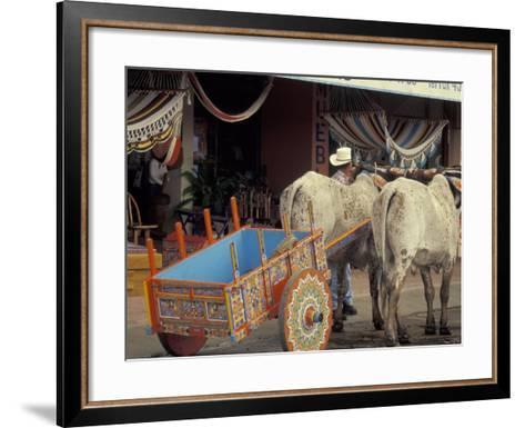 Ox Cart in Artesan Town of Sarchi, Costa Rica-Stuart Westmoreland-Framed Art Print