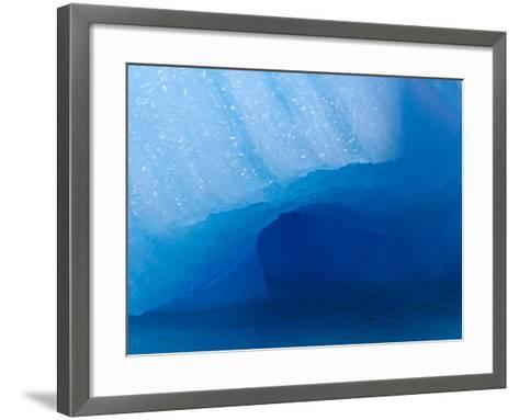 Columbia Glacier Iceberg, Columbia Bay, Prince William Sound, Alaska, USA-Hugh Rose-Framed Art Print