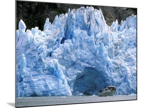 Fords Terror Wilderness Iceberg and Waterfall in Fjord, Tracy Arm, Inside Passage, Alaska, USA-Paul Souders-Mounted Photographic Print