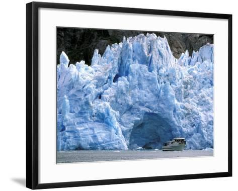 Fords Terror Wilderness Iceberg and Waterfall in Fjord, Tracy Arm, Inside Passage, Alaska, USA-Paul Souders-Framed Art Print
