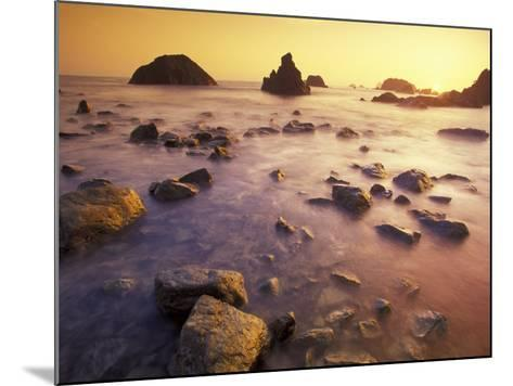 Sunset along Crescent Beach, California, USA-Darrell Gulin-Mounted Photographic Print