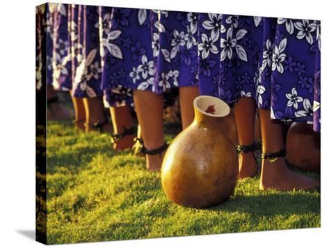 Hula Dancers, Kauai, Hawaii, USA-John & Lisa Merrill-Stretched Canvas Print