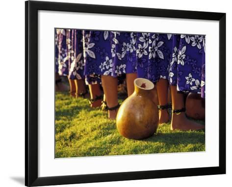 Hula Dancers, Kauai, Hawaii, USA-John & Lisa Merrill-Framed Art Print