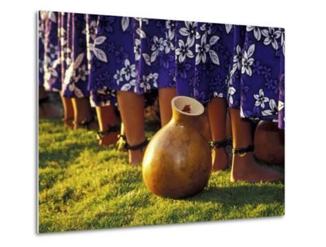 Hula Dancers, Kauai, Hawaii, USA-John & Lisa Merrill-Metal Print
