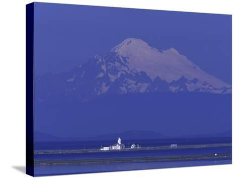 New Dungeness Lighthouse on Dungeness Bay, Washington, USA-Jamie & Judy Wild-Stretched Canvas Print