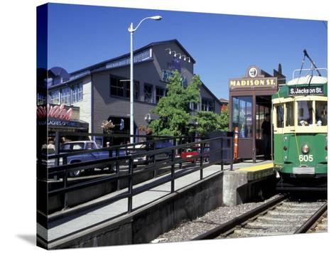 Waterfront Streetcar, Seattle, Washington, USA-Jamie & Judy Wild-Stretched Canvas Print