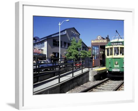 Waterfront Streetcar, Seattle, Washington, USA-Jamie & Judy Wild-Framed Art Print