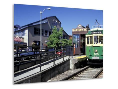Waterfront Streetcar, Seattle, Washington, USA-Jamie & Judy Wild-Metal Print