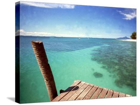 Waters of Pulau Babi Besar Seen from Jetty Islands Malaysia, 1990s--Stretched Canvas Print