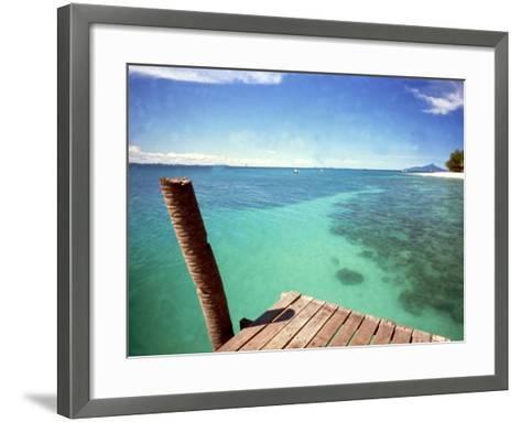 Waters of Pulau Babi Besar Seen from Jetty Islands Malaysia, 1990s--Framed Art Print