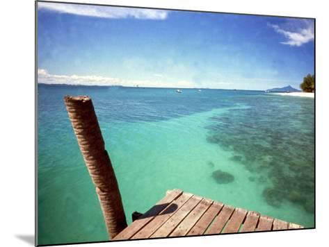 Waters of Pulau Babi Besar Seen from Jetty Islands Malaysia, 1990s--Mounted Photographic Print