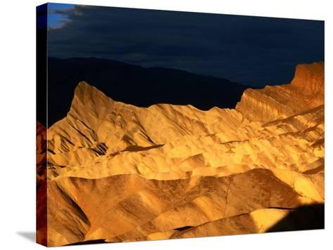 Dawn Light Over Zabriskie Point Yellow-Tinted Rock Formation, Death Valley National Park, U.S.A.-Ruth Eastham-Stretched Canvas Print
