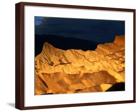 Dawn Light Over Zabriskie Point Yellow-Tinted Rock Formation, Death Valley National Park, U.S.A.-Ruth Eastham-Framed Art Print