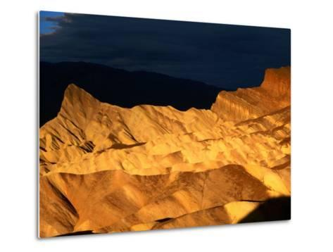 Dawn Light Over Zabriskie Point Yellow-Tinted Rock Formation, Death Valley National Park, U.S.A.-Ruth Eastham-Metal Print