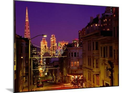 Downtown at Dusk, San Francisco, U.S.A.-Thomas Winz-Mounted Photographic Print