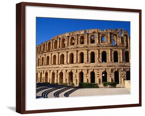 Exterior of Colusseum, a Roman Monument, El-Jem, Tunisia-Pershouse Craig-Framed Art Print
