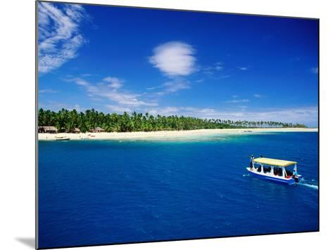 Boat in Lagoon, Plantation Island Resort, Fiji-Peter Hendrie-Mounted Photographic Print