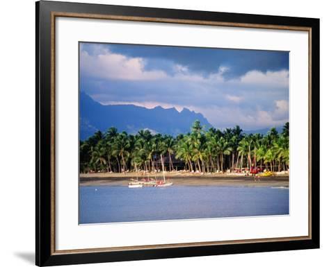 Palms and Beach, Sheraton Royale Hotel, Fiji-Peter Hendrie-Framed Art Print