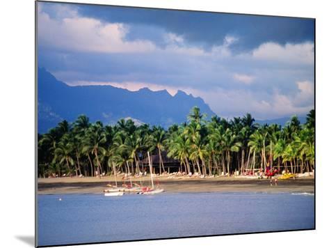 Palms and Beach, Sheraton Royale Hotel, Fiji-Peter Hendrie-Mounted Photographic Print