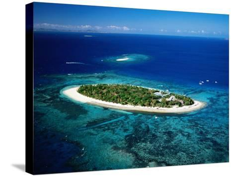 Aerial of Treasure Island, Fiji-Peter Hendrie-Stretched Canvas Print