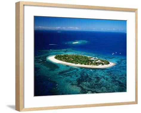 Aerial of Treasure Island, Fiji-Peter Hendrie-Framed Art Print