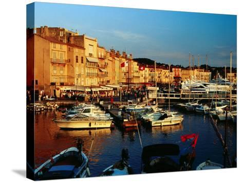 Boats and Buildings at Port, St. Tropez, France-Richard I'Anson-Stretched Canvas Print