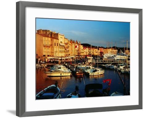 Boats and Buildings at Port, St. Tropez, France-Richard I'Anson-Framed Art Print