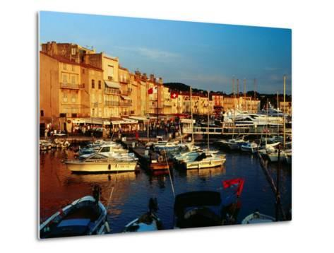 Boats and Buildings at Port, St. Tropez, France-Richard I'Anson-Metal Print