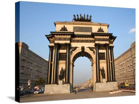 Triumphal Arch, Moscow, Russia-Jonathan Smith-Stretched Canvas Print