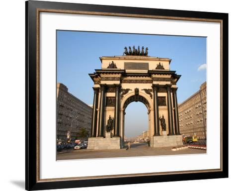 Triumphal Arch, Moscow, Russia-Jonathan Smith-Framed Art Print