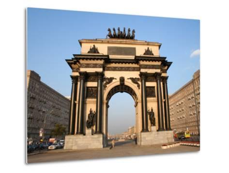 Triumphal Arch, Moscow, Russia-Jonathan Smith-Metal Print