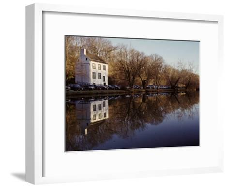 An Old Lockhouse Reflected in the C & O Canal-Stephen St^ John-Framed Art Print