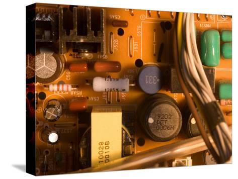 A Circuit Board Inside a CRT Monitor-Joel Sartore-Stretched Canvas Print