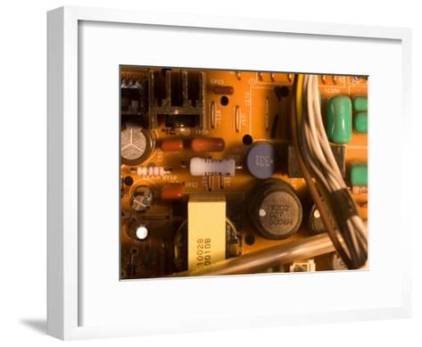 A Circuit Board Inside a CRT Monitor-Joel Sartore-Framed Art Print