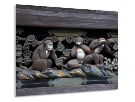 Monkey Carving, Nikko Toshogu Shrine, Japan-Rob Tilley-Metal Print
