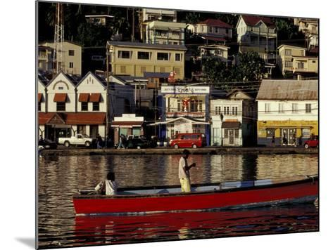 Fisherman in Harbor, St. George, Grenada, Caribbean-Greg Johnston-Mounted Photographic Print