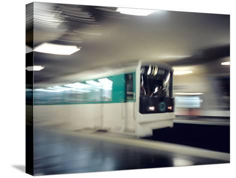 Metro, Paris, France-David Barnes-Stretched Canvas Print