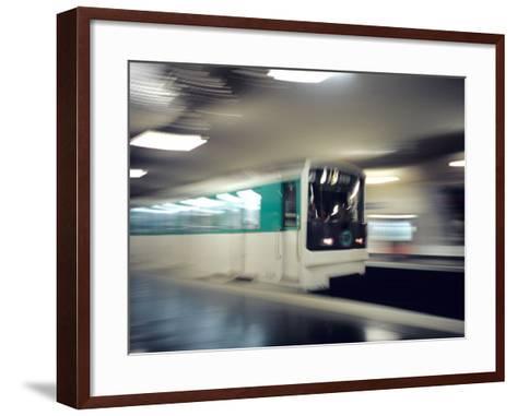 Metro, Paris, France-David Barnes-Framed Art Print