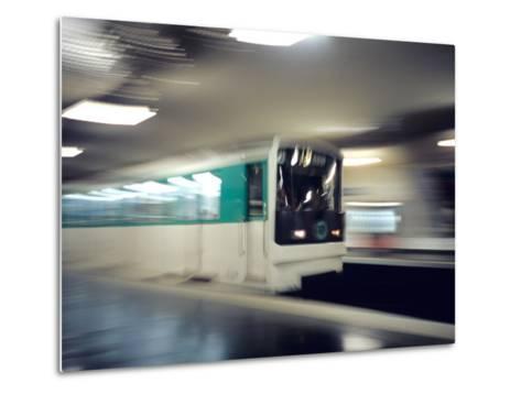 Metro, Paris, France-David Barnes-Metal Print
