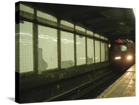 Slow Motion Subway--Stretched Canvas Print
