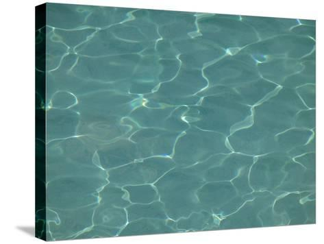 Close-up of Water Shimmering in a Pool--Stretched Canvas Print