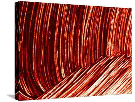 Close-up of Dark Red Paint Brushed into Swirls--Stretched Canvas Print