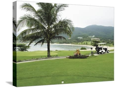 Lawn on a Golf Course--Stretched Canvas Print
