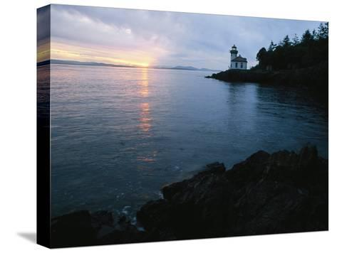 The Lime Kiln Lighthouse Casts its Warning Beacon-Phil Schermeister-Stretched Canvas Print