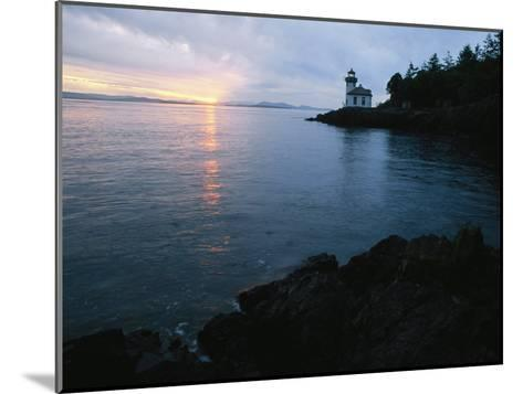 The Lime Kiln Lighthouse Casts its Warning Beacon-Phil Schermeister-Mounted Photographic Print