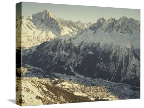 The Tourist Resort of Chamonix Sits at the Foot of the French Alps-Nicole Duplaix-Stretched Canvas Print
