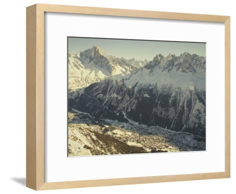 The Tourist Resort of Chamonix Sits at the Foot of the French Alps-Nicole Duplaix-Framed Art Print