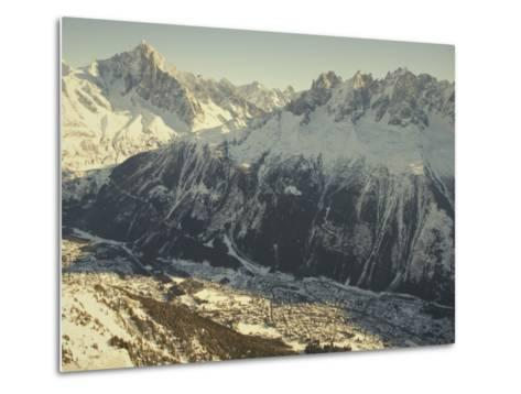The Tourist Resort of Chamonix Sits at the Foot of the French Alps-Nicole Duplaix-Metal Print