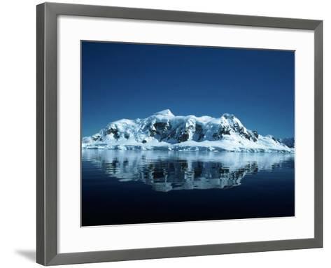 Glacier and Reflection, Paradise Bay, Antarctica-Yvette Cardozo-Framed Art Print